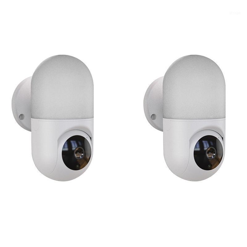 Cámara de seguridad 1080P Cámara de vigilancia de la casa completa HD con visión nocturna Detección de movimiento LED lighting1