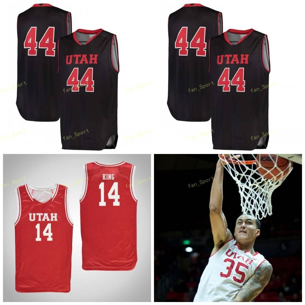Utah Utes College Basketball Jersey 35 Kyle Kuzma 44 Keith Van Horn 0 Naseem Gaskin 1 Charles Jones Jr Uomini Donne gioventù personalizzato cucito