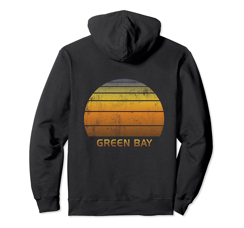 Green Bay Wisconsin Vintage-Sonnenuntergang PulloverHoodie Unisex Größe S-5XL mit Farbe Schwarz / Grau / Navy / Royal Blue / Düster Heather