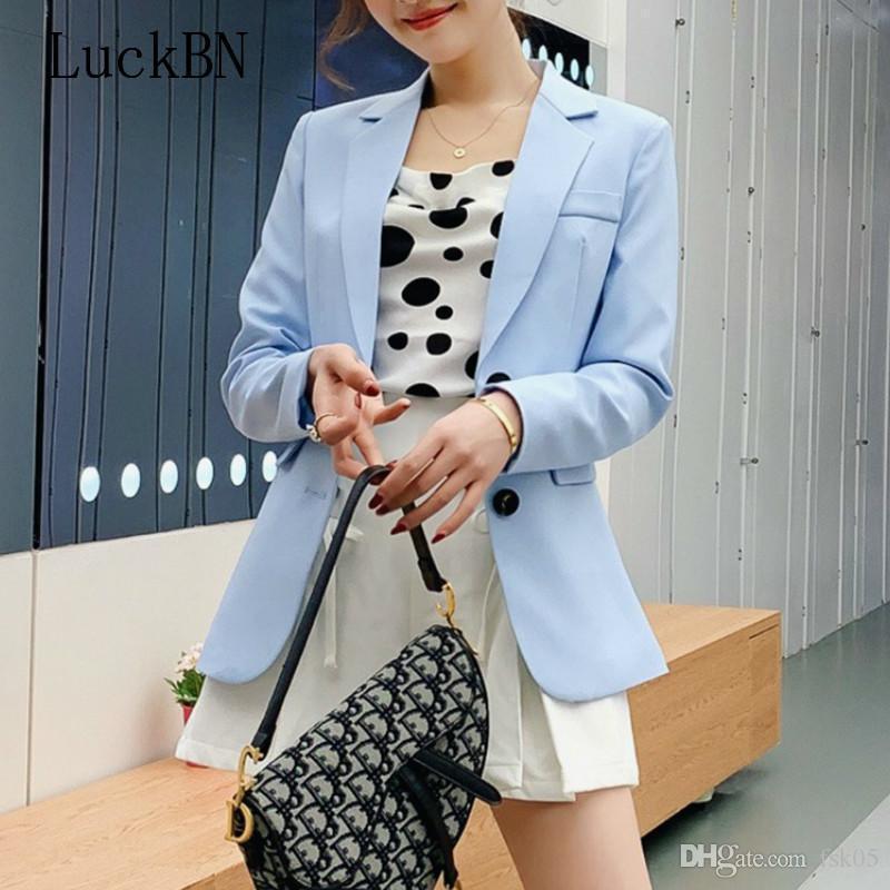 Femmes Blazer Blazer à manches longues à manches longues Lady Blazers Formal Fashion Automne Vestes Slim Femelle Loose Coat KG-1402