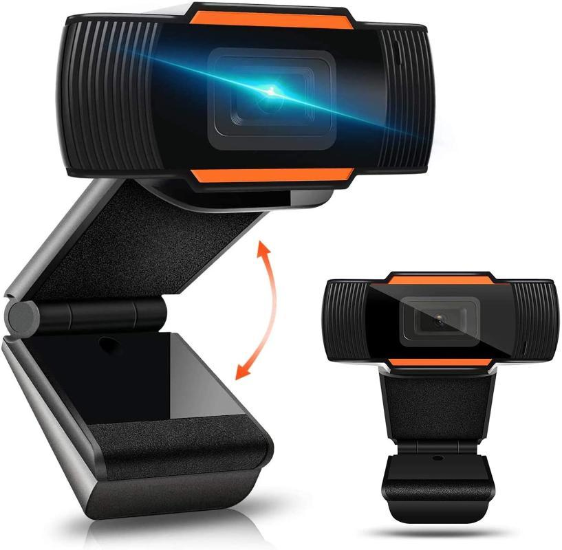 Webcam HD con microfono per Desktop PC Laptop, Conferenza Full HD USB Camera Webcam con la clip rotativa e Wide Angle View