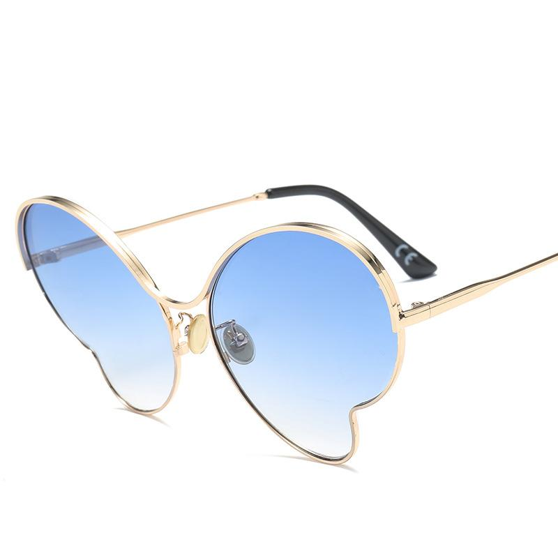 Moda de moda femenino LRREGULAR Gafas de ojos Mujeres Sun Goggle Gafas de sol Retro de lujo Vacaciones de vacaciones Viajes de playa Vidrios 2018 Cat Tchnk