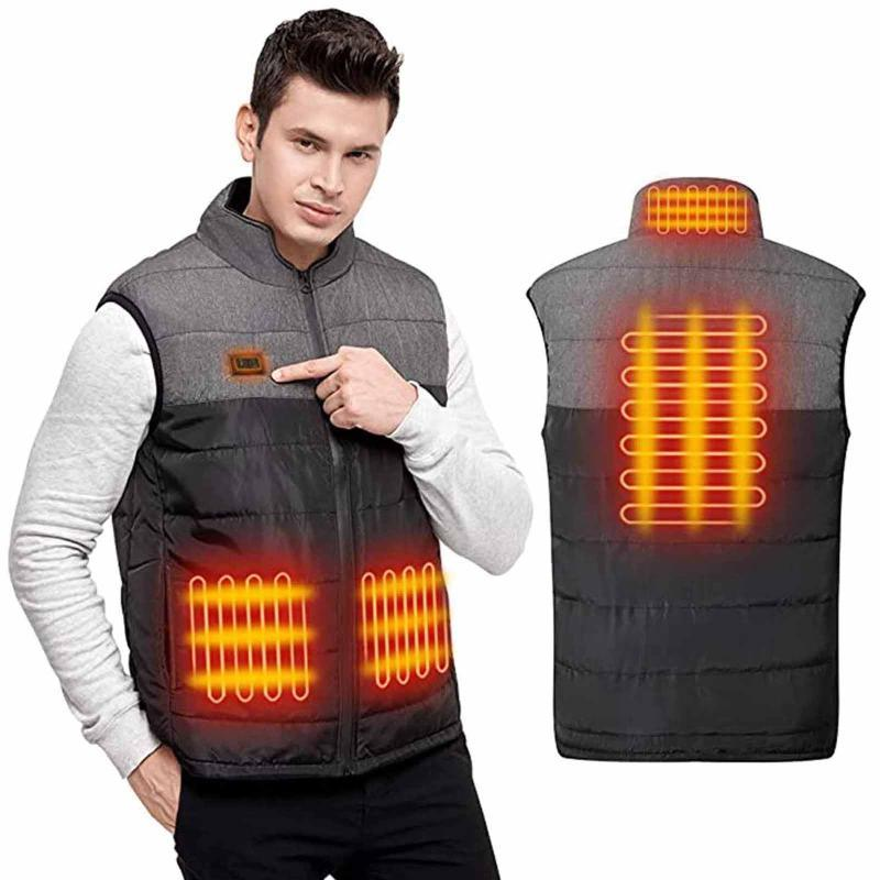 Beheizte Weste Heizung Jacke für Männer und Frauen Usb Elektro wärmere Kleidung im Freien Skifahren Fischen Travling Klettern Heizung Vest