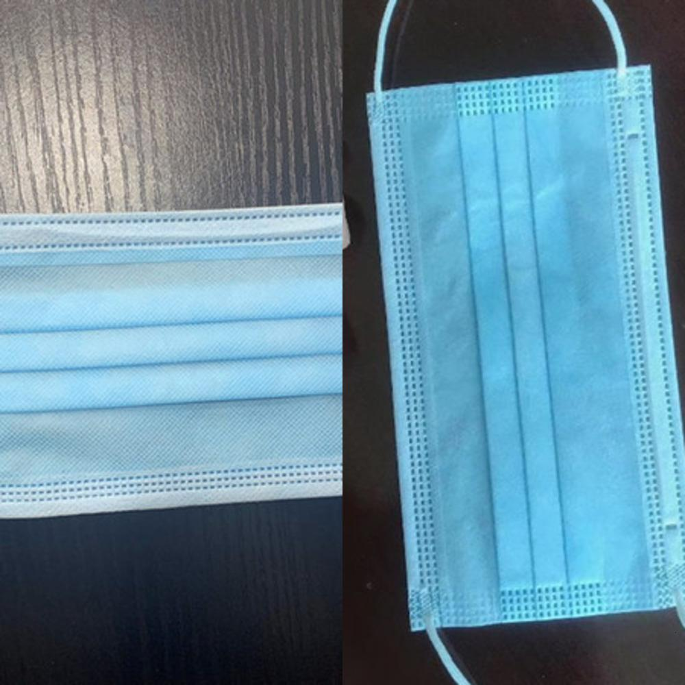 Disposable Face Masks with Elastic Ear Loop 3 Ply Breathable and Comfortable for Blocking Dust Air Protection Pack mask