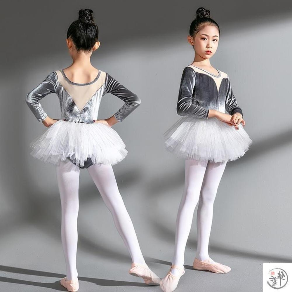 Autumn Children's Dance and Cuciture Formazione Ragazza Gonna Balletto Gonna lungo Sve Art ART Performance Drs Gymnastics Inverno