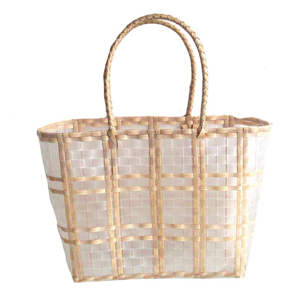 الصيف السيدات حقائب اليد شفافة البلاستيك المنسوجة للماء التسوق سلة الريف نمط الترفيه حقيبة جديد llarge حقيبة يد صغيرة