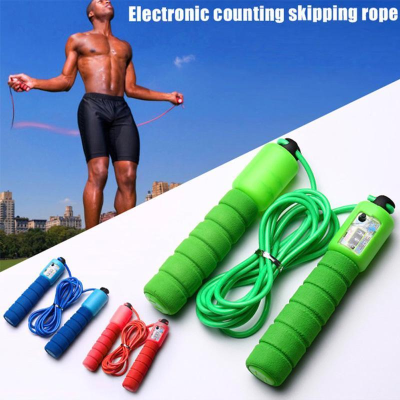 Прыгающие веревки со случайным спортом Фитнес Регулируемая быстрая скорость подсчета пропуска пробой прокладки ASD88