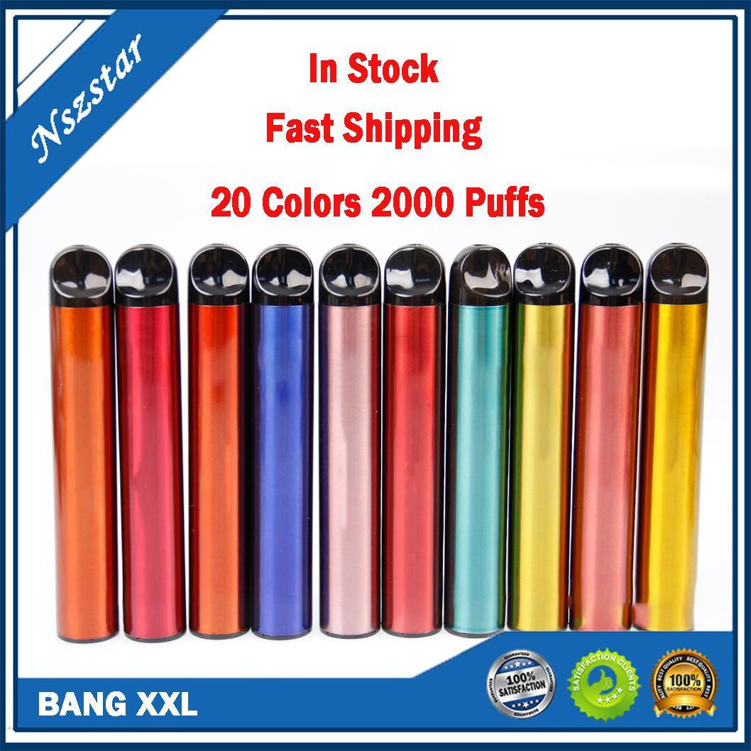 PODERY BANG XXL Dispositivo de vagem descartável 800mAh 2000Puff XXTRA Prefigurado 6ml Vape Stick Pen Portable Mini Vapor System