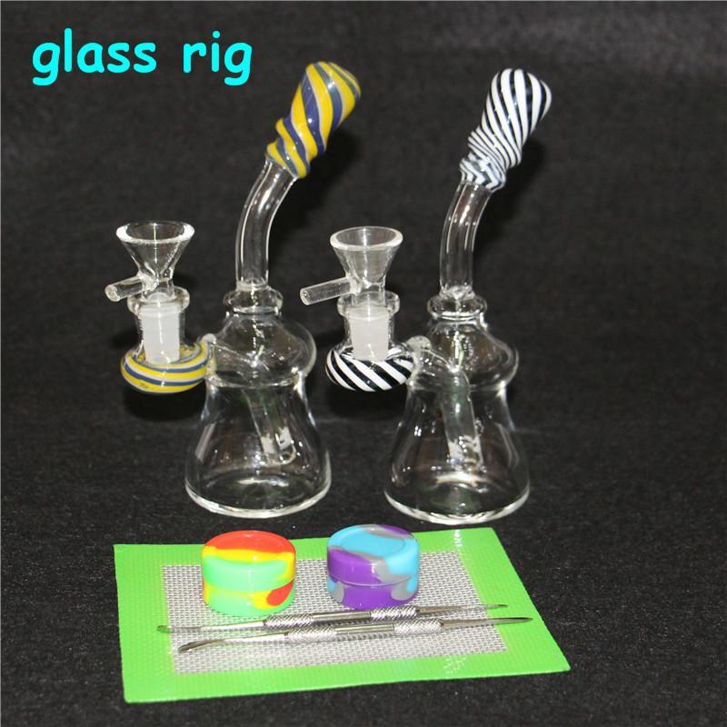 Glasbong-Wasser-Rohrglas-DAB-Öl-Rigs-hintere Glasöl-Rig mit 14-mm-Quarz-Banger
