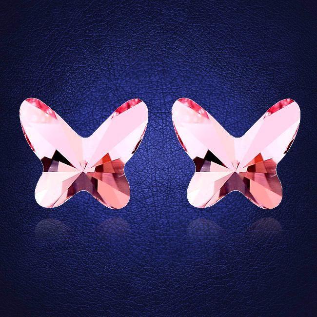 Cristal original de petits goujons pour femmes Butterfly Brincos Pendientes Mujer Moda Friends Girls cadeau Joyas
