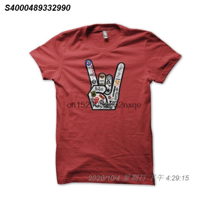Männer-T-Shirt Rock and Roll T-Shirt mit roten T-Shirts für Damen T-Shirt 528510