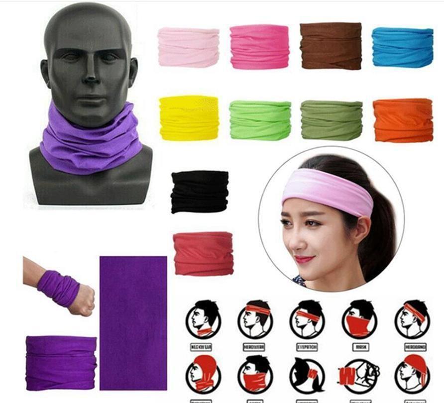 25 Цветов Мода Бандана Маска для лица Открытый Спорт Оголовье Путешественник Turban Wristband Headscarf Шея Гайтер Магический Charve Bbynux Nana_shop