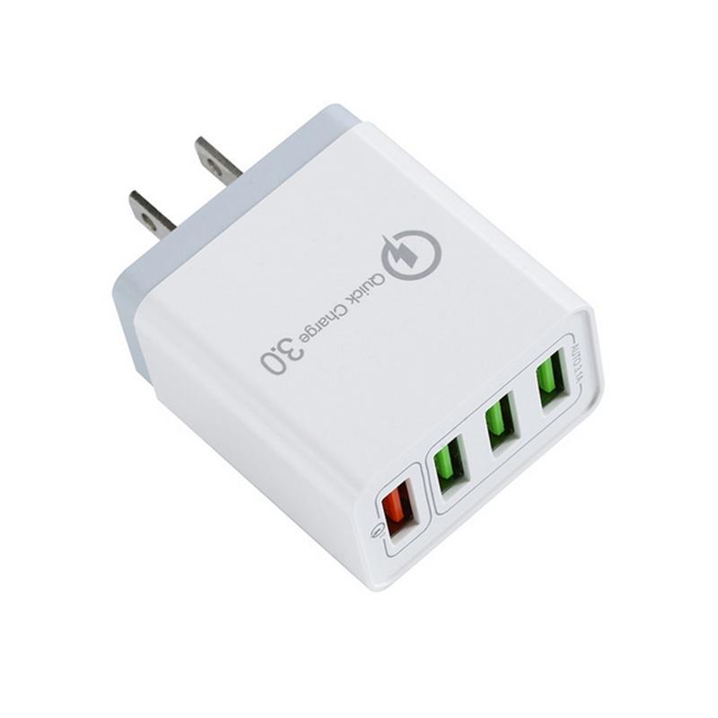 스마트 폰에 대한 보편적 인 여행 어댑터 충전기 3.1A 급속 충전 3.0 빠른 충전기 영국 플러그 4 포트 USB 벽 충전기