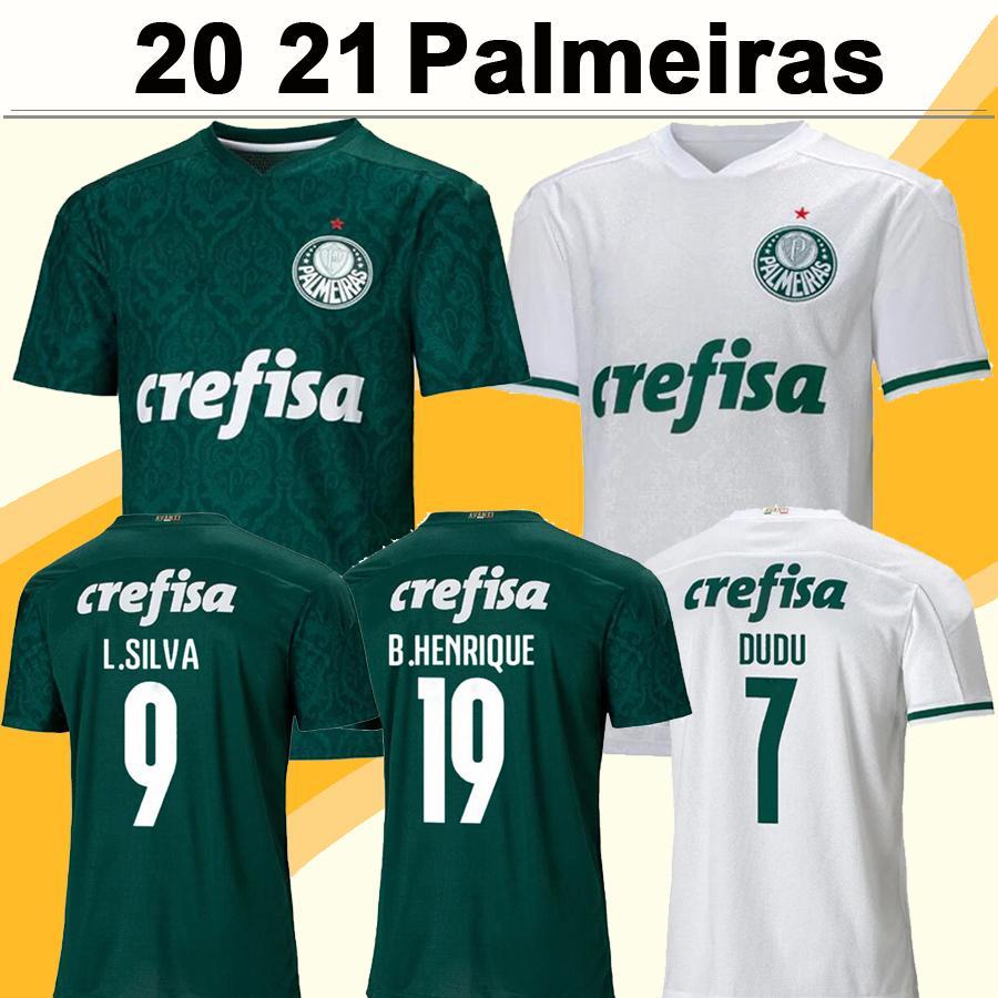 20 21 Palmeiras DUDU BORJA Soccer Jerseys MOISES A.GUERRA LUCAS LIMA FELIPE MELO Home Green Away White Football Shirts Mens Uniforms