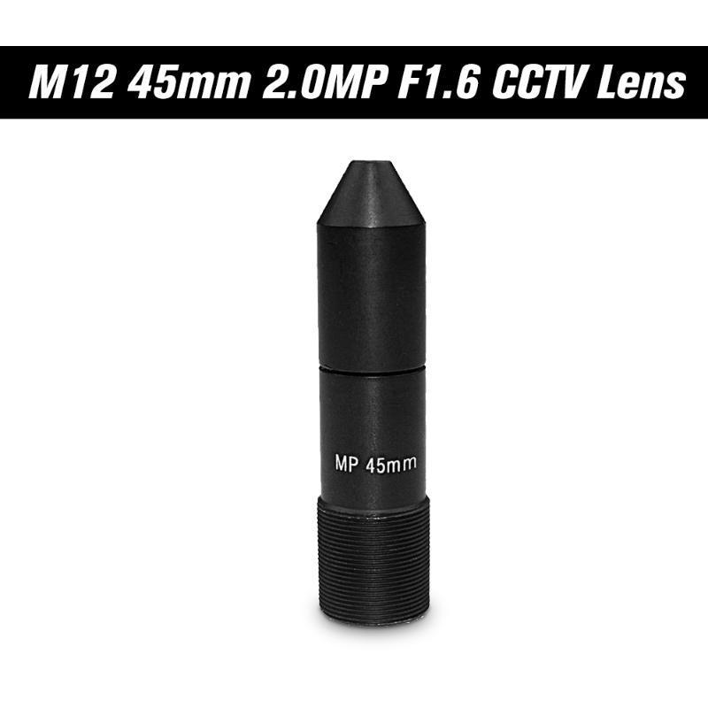 M12 جبل MTV مجلس عدسة HD 2.0 ميجابيكسل 45mm والثقب CCTV عدسة مقاسات الصورة 1 ، F1.6، إيريس ثابت طويل عرض المسافة