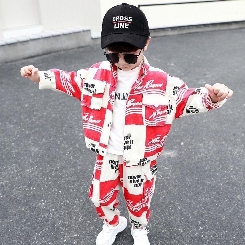 Ropa de niños Set New Boys Ropa primavera y otoño niños ropa moda moda coreano traje de dos piezas traje toddler1