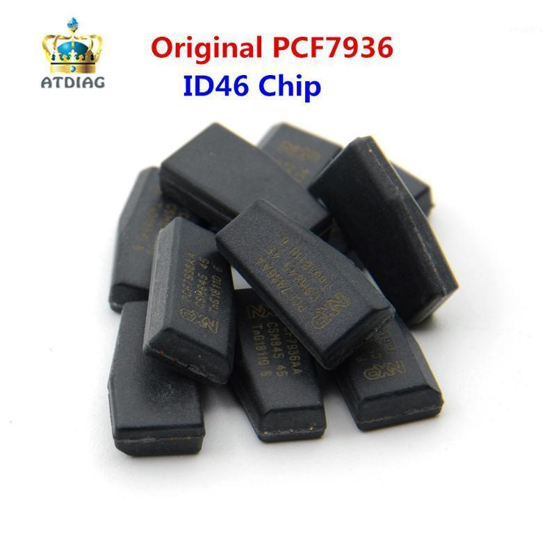 Araba Anahtar KeyDiy 10-50 adet / grup Orijinal PCF7936AS SOT385 Oto Transponder Çip ID46 PCF7936 Çilingir Aracı PCF 79361