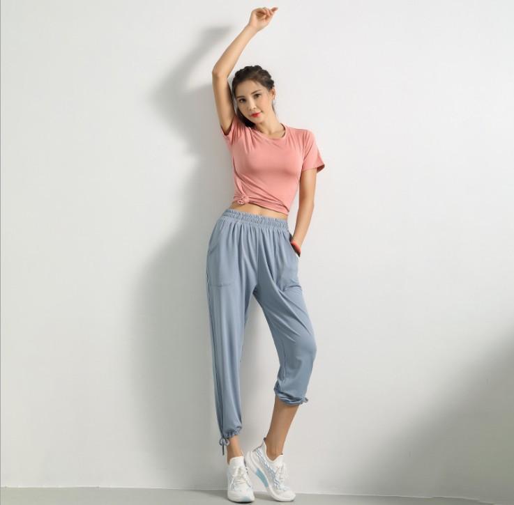 Ejecución de Yoga Fitness Deportivo nuevo estilo mujeres del otoño invierno Formación danza holgado Pantalón transpirable