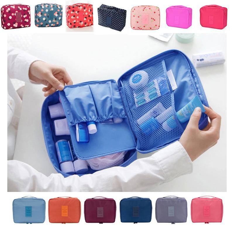 Путешествия макияж сумка Lady сумка для хранения Бизнес Макияж сумка большой емкости Косметическая сумка Простая печать Косметический мешок