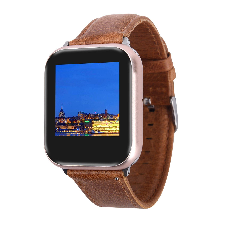 44mm Akıllı İzle Z6 Serisi 6 Alüminyum GPS Bluetooth 4.0 Kablosuz Şarj MTK2503C 1.78 inç IPS 320 * 385 HD 2.5D Ekran Kalp Hızı Kan Basıncı Uyku Monitörü EKG