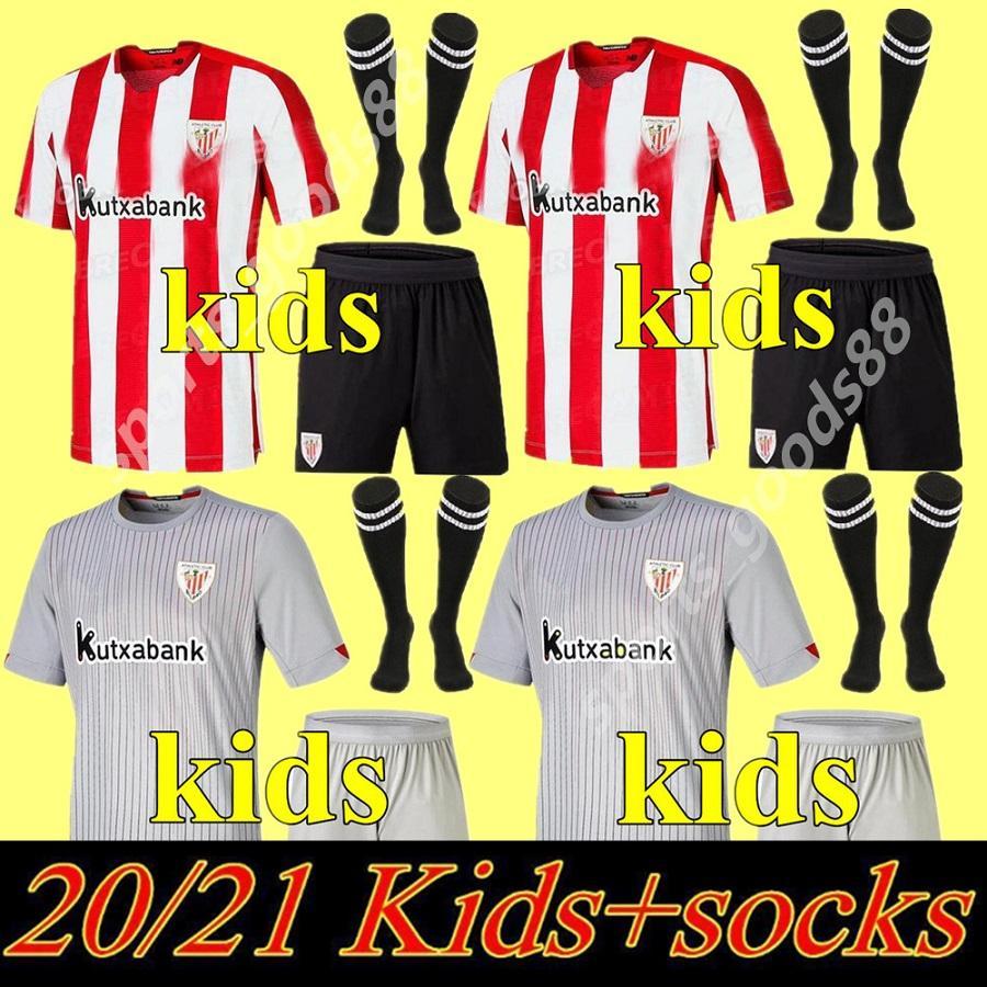 Kit Kit Kids 20 21 Athletic Bilbao Soccer Jerseys Raul Garcia 2020 2021 Williams Aduriz Villalibre Athletic Club Muniain Chemise de football de jeunes 02