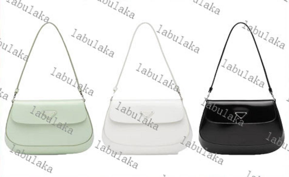 Cleo Crossbody Bag Brilhante Bolsas De Couro Do Ombro Messenger Bolsas De Mensageiro Para As Mulheres Sacos Clássicos Zipper Moda Crescent Bag 4 Cor 4