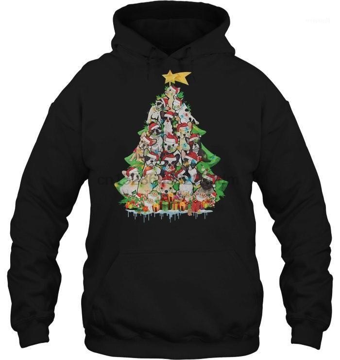 Erkekler Hoodie Boston Terrier Noel Ağacı Versiyonu2 Kadın Streetwear1