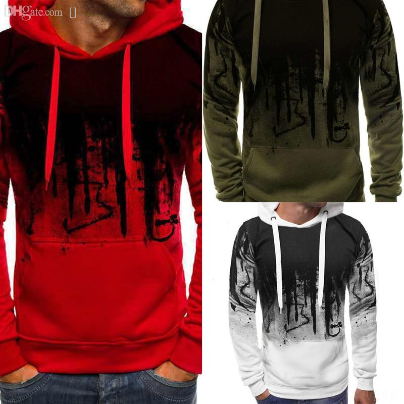 85FV0 Cashmere Cotton Blended jersey Splash ink sweater Men Sweater autumn 3D printing winter Jumper Thick 3d Pullover men Knitted creative