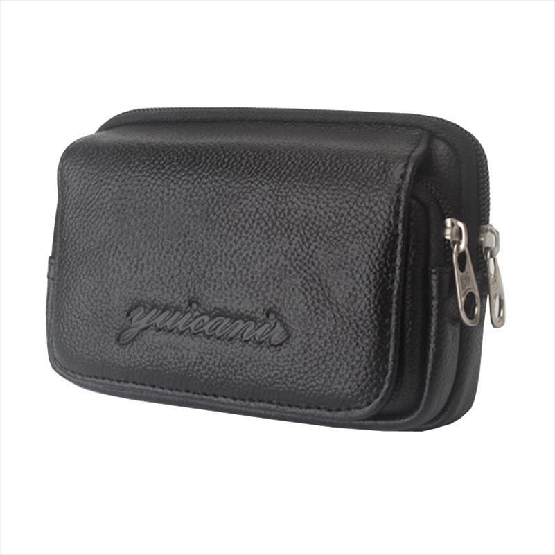 bel çantası Erkekler Deri Vintage Seyahat Cep Cep Telefonu Kemer Kılıfı Çanta Fanny Paketi Bel Çantası Yeni