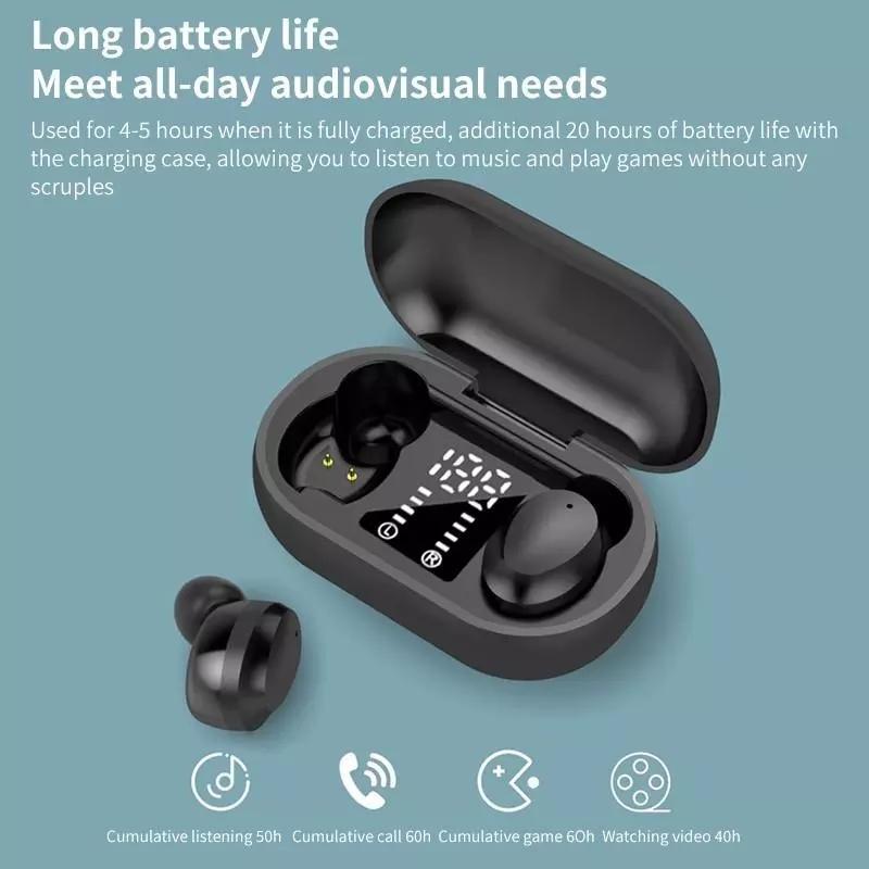 Echte drahtlose Kopfhörer F12-Touch Digital Display In-Ohr Kopfhörer Noise Reduction TWS Bluetooth Headset Kopfhörer mit Mikrofon Box Lade