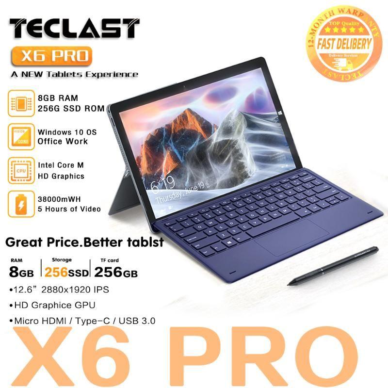 "Teclast X6 Pro Tablet Netbook Windows 10 Intel Touch Screen 8GB RAM 256GB SSD 12.6"" 2880*1920 FHD IPS USB3.0 2 in 1 Tablet PC"
