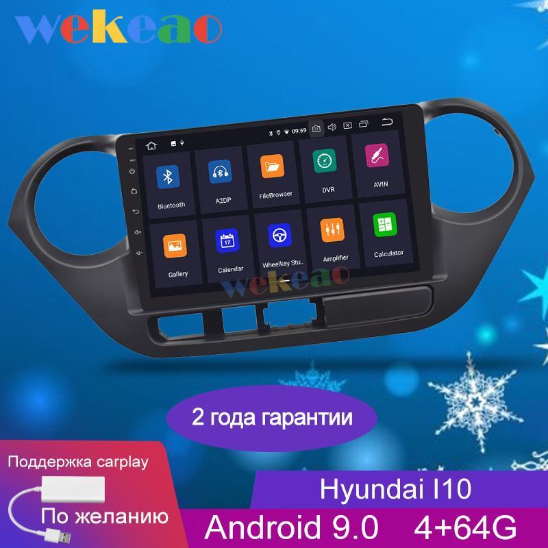 Pantalla táctil de Wekeao 9 '' Android 9.0 Coche DVD reproductor multimedia para I10 Grand Car Radio GPS Navegación 2013-2021