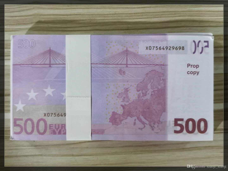 Prop 500 Geld Gefälschte Kinder Lernen Werkzeugsammlungen Geschenke Euro Games Party Festliche Kopie Geld 04 Spielzeug Papier iphfx