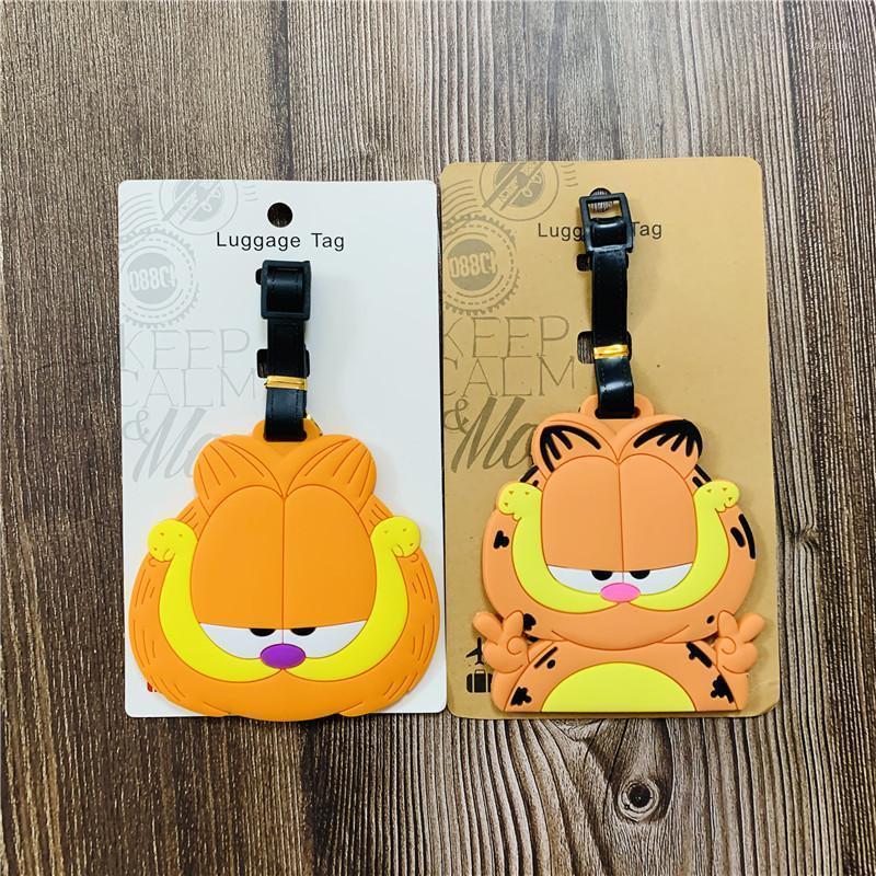 Garfield PVC Anahtarlık Bagaj Etiketi Adam Anahtarlık Kadın Anahtar Tutucu Sevimli Çiftler Anahtarlık Boarding Geçiş Yüzük Düğün Porte Clef1