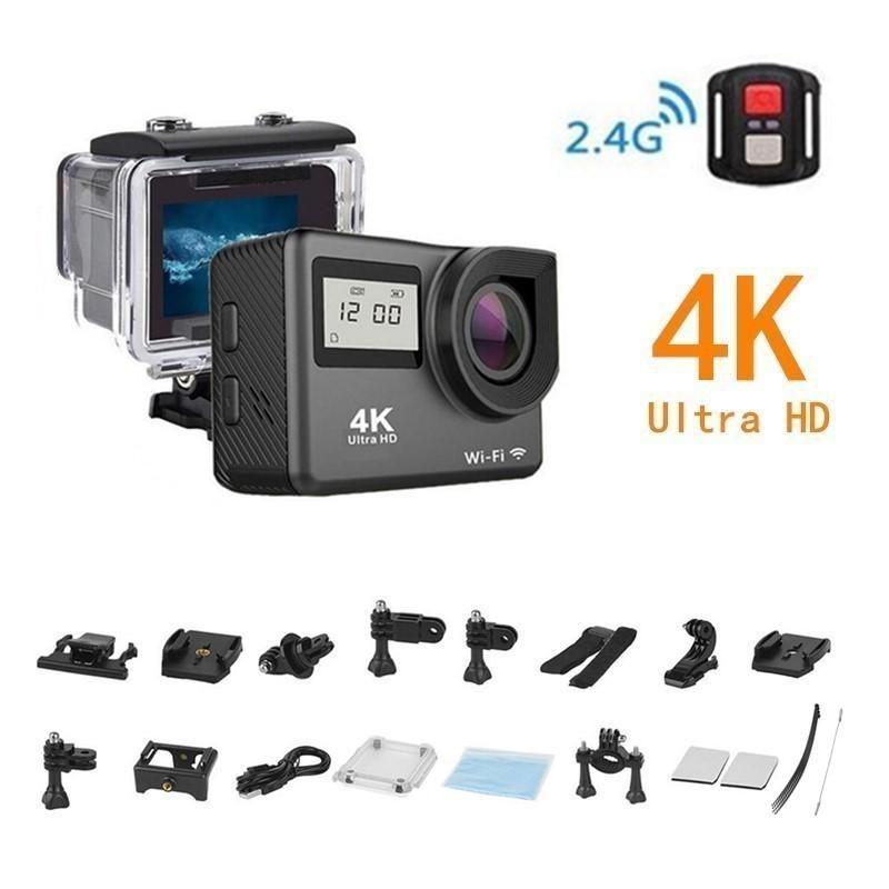 4K Спорт камера WiFi 2,0 «сенсорного экран полного HD мини спортивных шлет 30m подводной камеры DV дистанционного управления