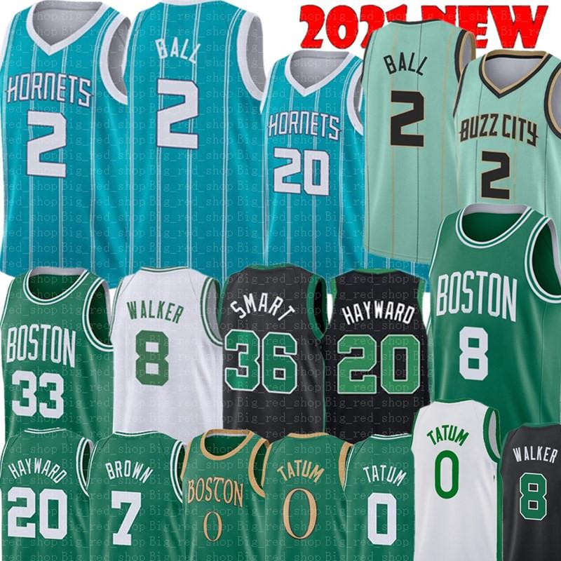Lamelo 2 Ball Gordon 20 Hayward Jersey Jayson 0 Tatum Kemba 8 Walker Jersey 33 Marcus 36 Smart Jaylen 7 Brown كرة السلة الفانيلة