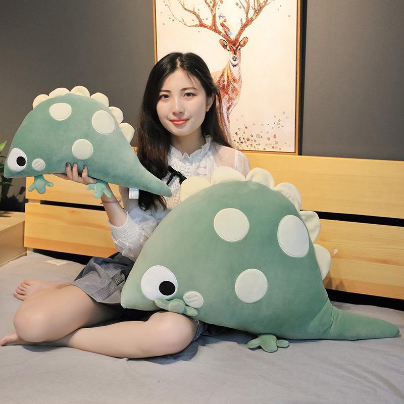 1 pc 46-90cm quente criativo desenhos animados dinossauro brinquedo de pelúcia pelúcia animais dinossauro travesseiro sofá almofada bonecas crianças meninas meninas