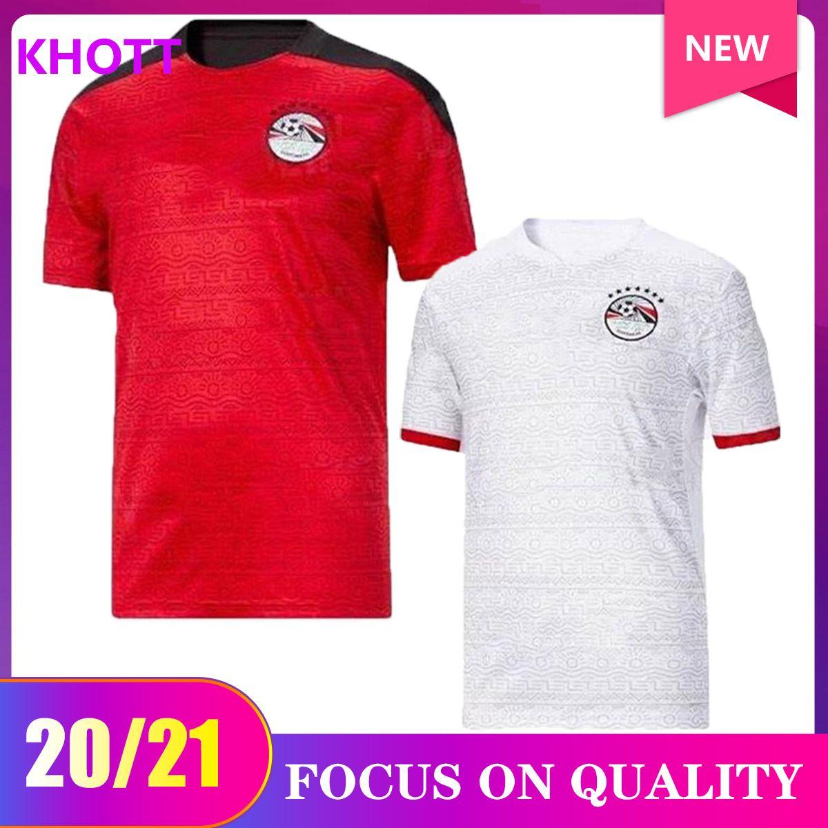 2020 Egitto Home Soccer Jersey Egitto 20/21 Egitto # 10 M.salah Camicia da calcio Away A. Egazi Kahraba Ramadan M.Elneny Uniformi di calcio