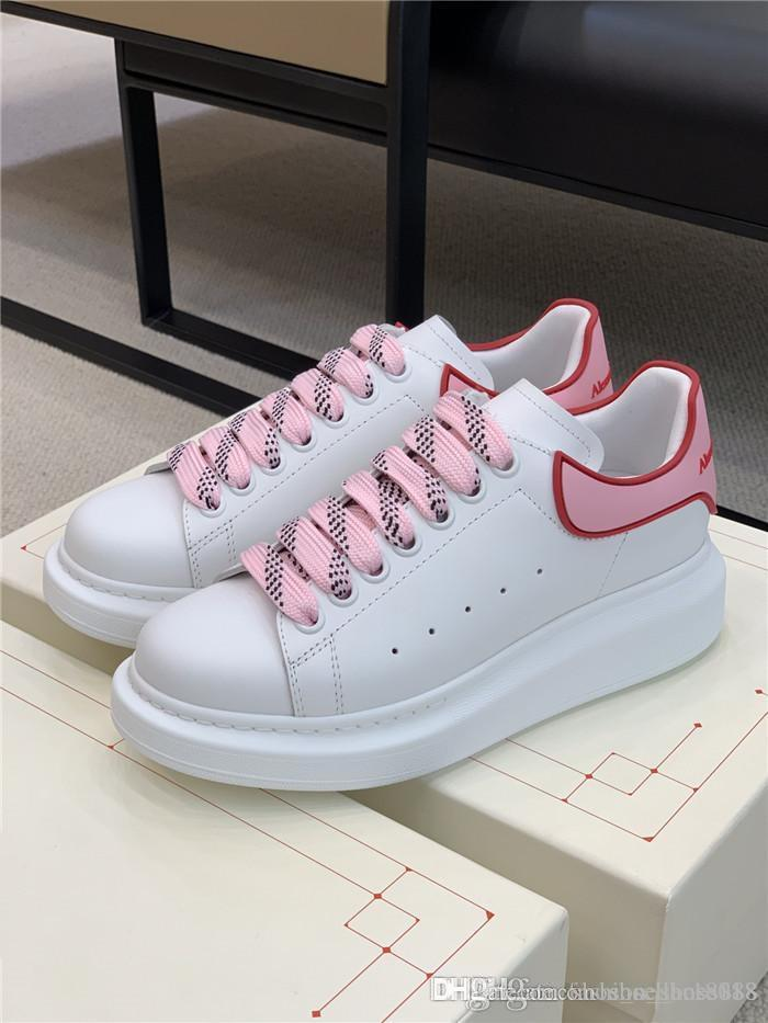 Womens New color Film tail small white shoes the same color department jacquard shoelace flat shoes running shoes With complete packaging