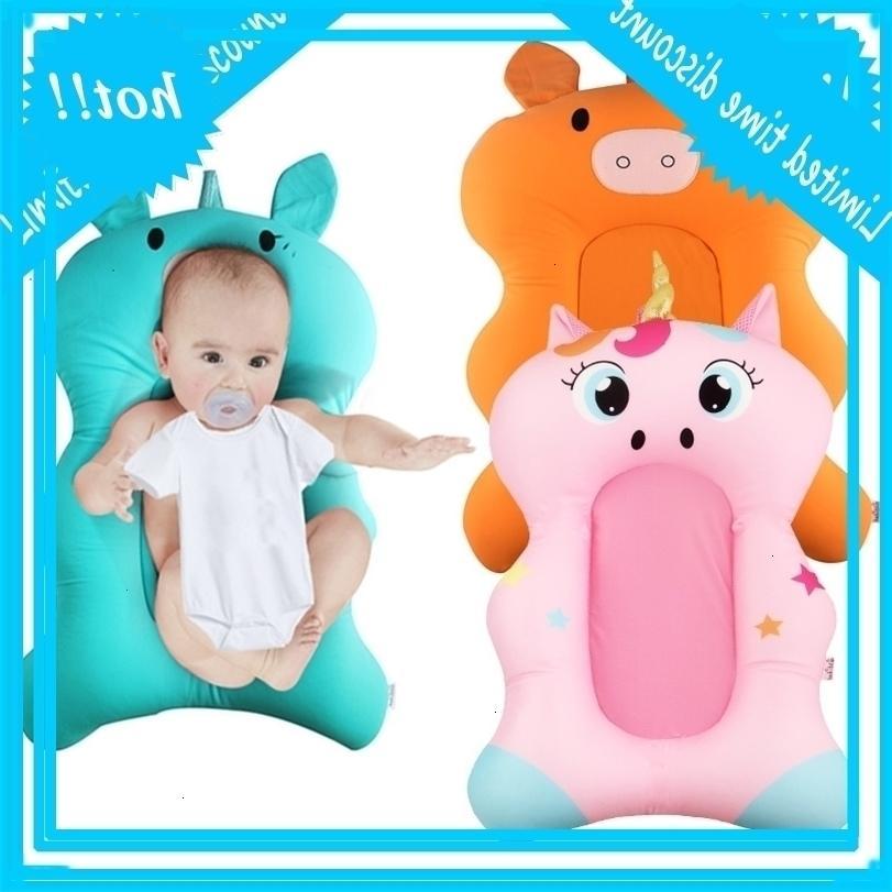 Baby Душевая ванна Pad Non Slip Bathtub Mat Newborn Дети Мальчик Безопасность Милый Мультфильм Баня Подушка Dropshipping