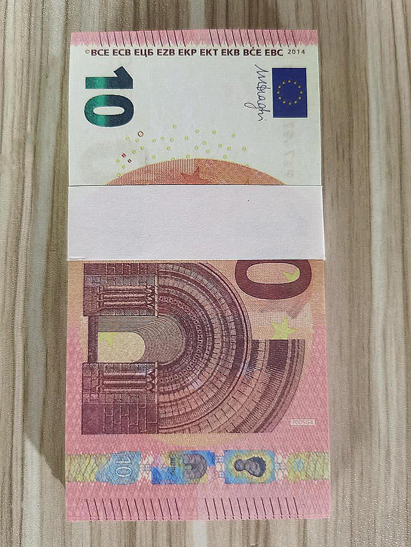 Горячей продажа SIMULATE Европы 10 евро поддельной банкноты игрушка кино и телевидение съемки реквизит реквизит практикующего банкноты игру маркер 05