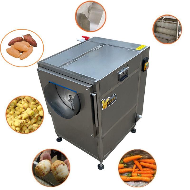 Automatische Gemüsefrüchte Waschen Peeling Maschine Süßkartoffel Taro Ginger Karottenkarotte Tapioka Peeling Maschine Preis