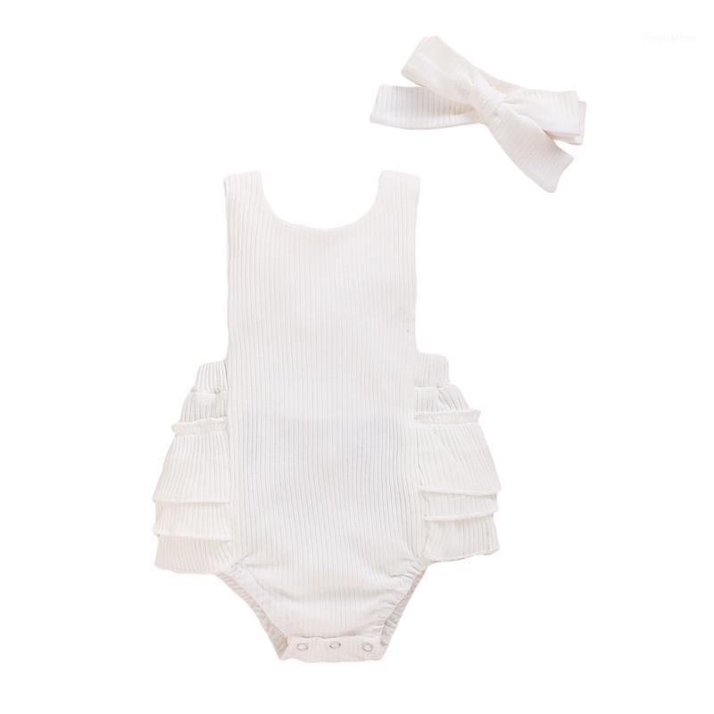 Newborn Baby Girl Boy Clothes Sleeveless Romper Tutu Dress 1PC Sunsuit Jumpsuit1