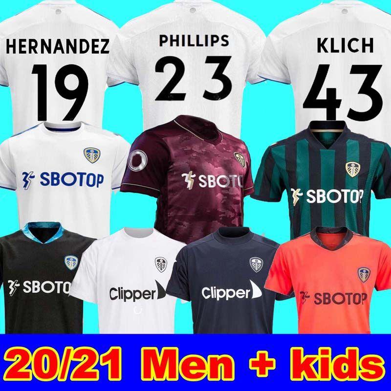 الرجال + الاطفال 20 21 ليدز لكرة القدم المنزل جيرسي المتحدة T روبرتس 2020 2021 هاريسون COSTA Alioski كليتش هرنانديز BAMFORD CLARKE جيرسي لكرة القدم