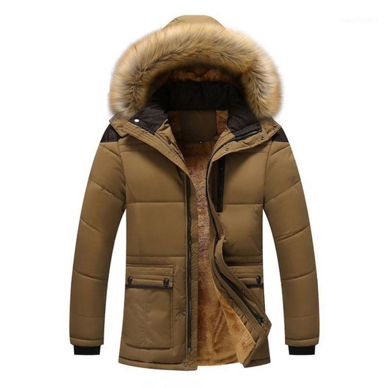 Зимняя куртка мужчины плюс размер 3XL утолщение теплых хлопковых мягких куртков из искусственного меха с капюшоном бенжера мужская парка Parka