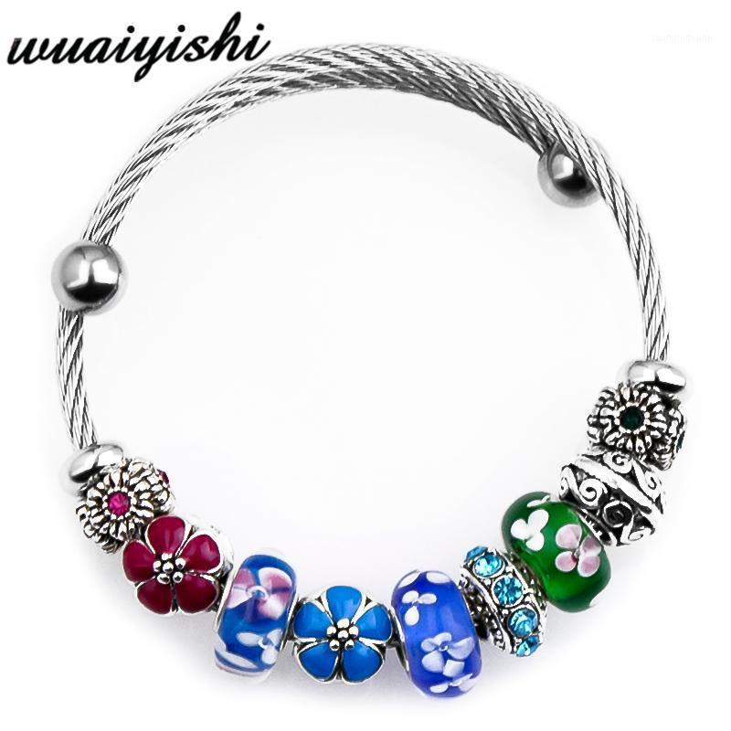 Charm Bracelets 2021 Adjustable Bracelet Jewelry Retro Beads String Pendant Ladies And Latest Trend DIY1