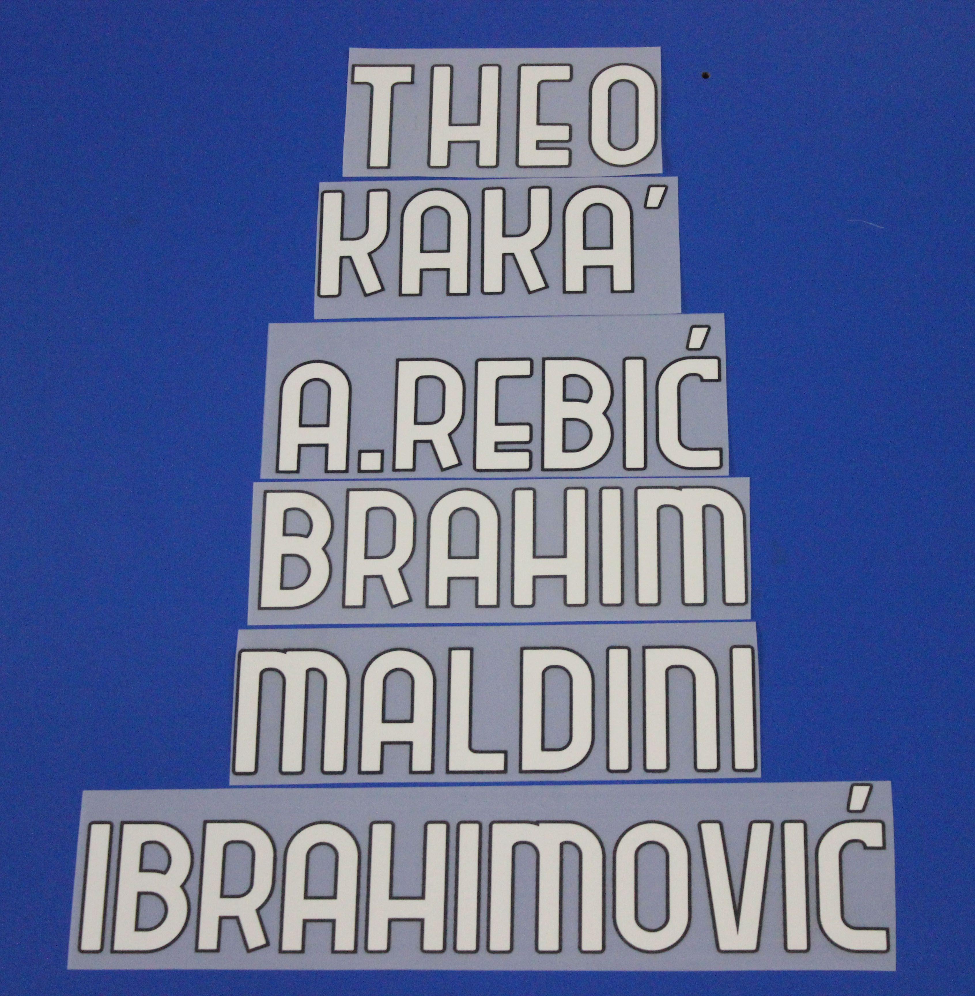 2020-2021 serie bir kulüp ibrahimovic tonali futbol adet özelleştirmek A-Z numarası 0-9 baskı futbolcu yazı tipi adet yama