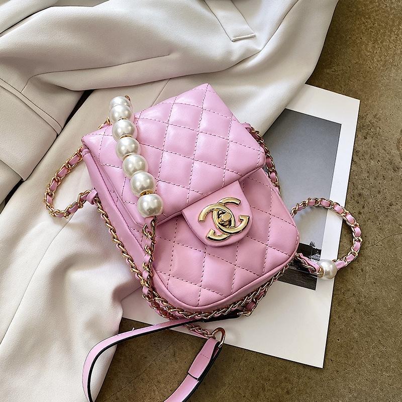personalidade família Lingge ph móvel para mulheres 2020 nova cadeia saco coreano moda saco pequeno telefone pequena bagmobile bagall-em torno de um ombro