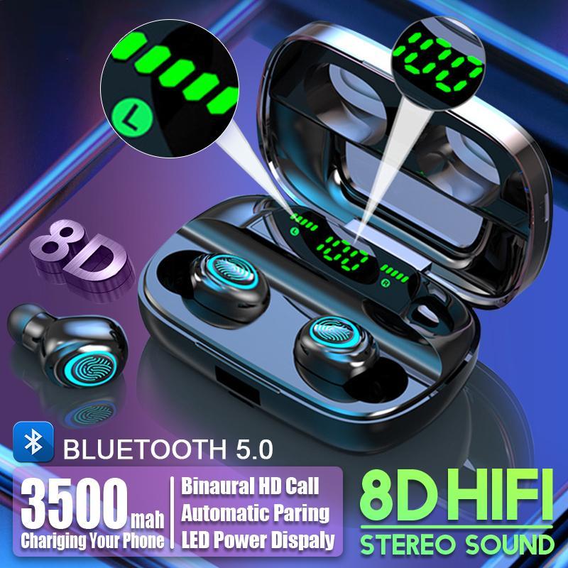 S11 3500mAh LED drahtloser Bluetooth-Kopfhörer-Kopfhörer Earbuds TWS Touch Control Sport Headset Abbrechen Geräusche Kopfhörer HIFI Ton
