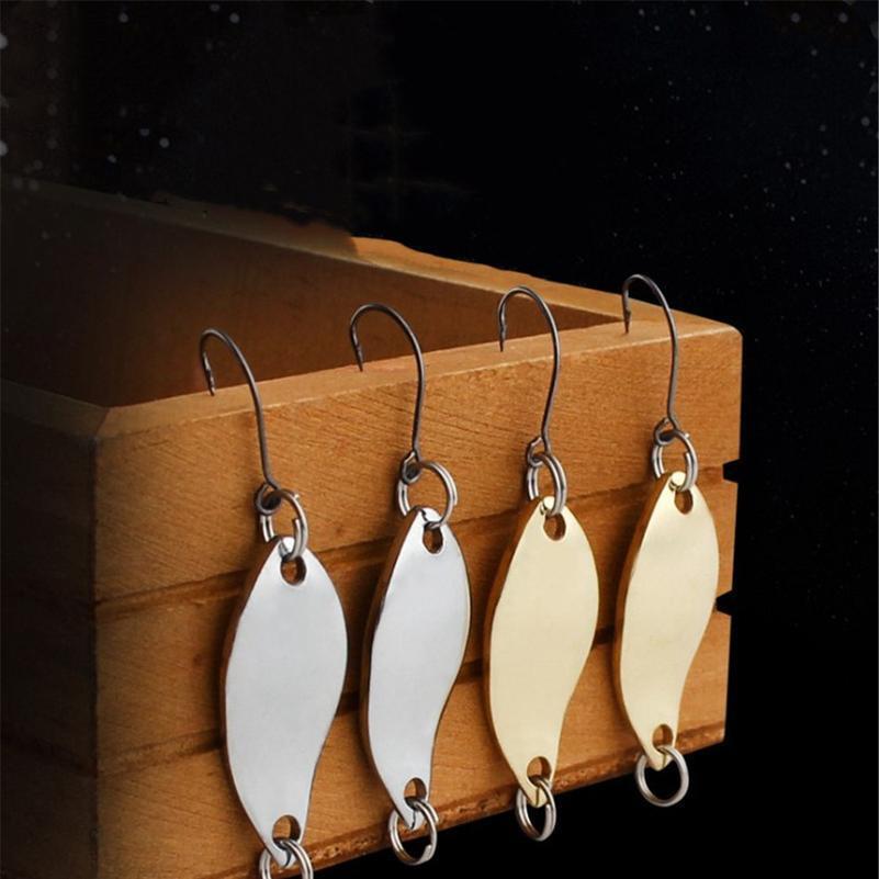 10pcs/lot 2.5g 3.5g 5g Metal Gold Sliver Spoon Mini Fishing Lure Wobbler Crankbait Bass Fishing Hard Bait With Single Ho jllHit